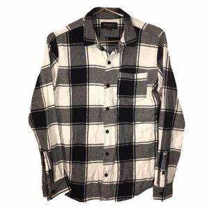 Pacson Plaid Flannel Shirt Womens Size Small (E)